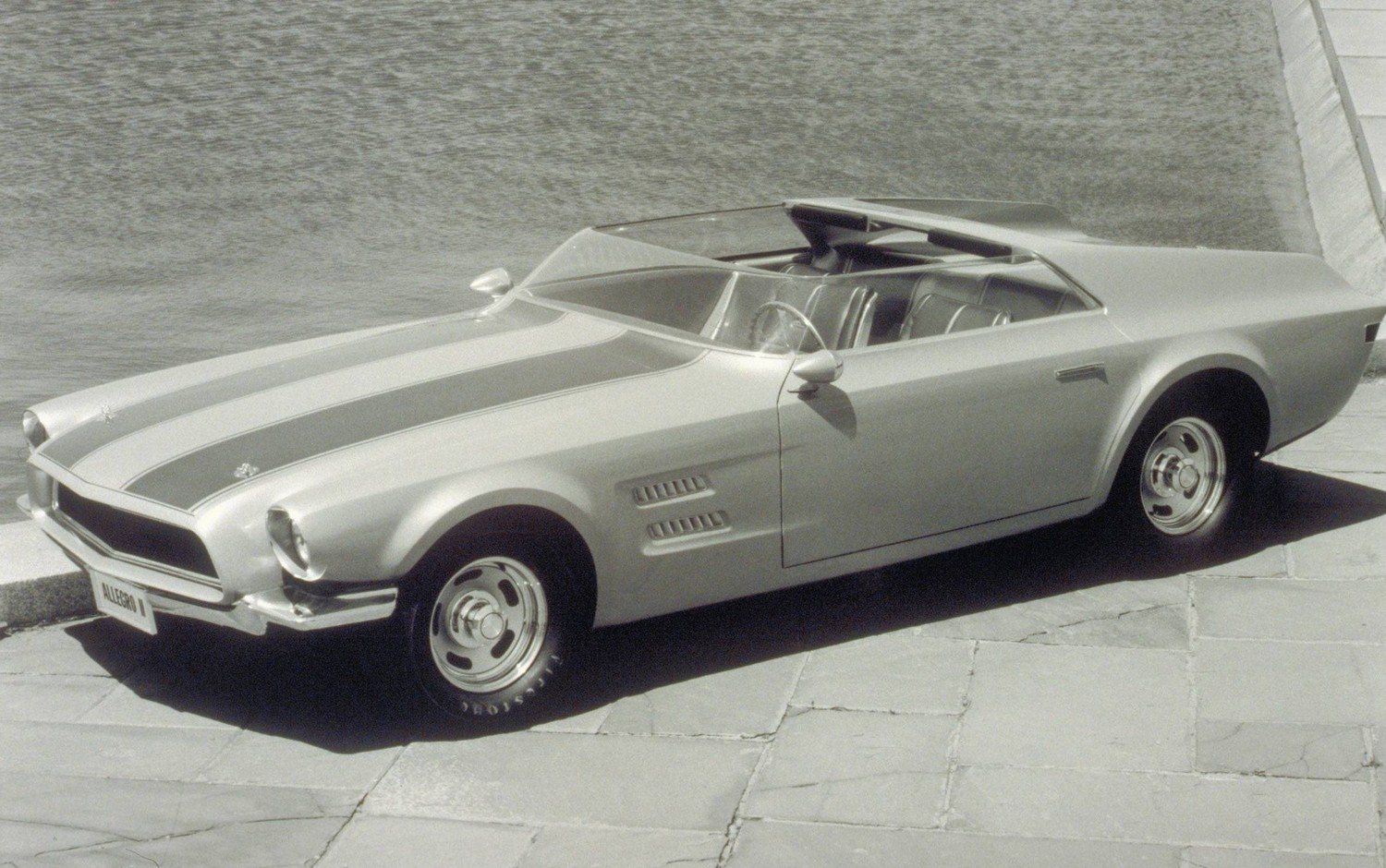 Ford mustang 1963 ii white concept car