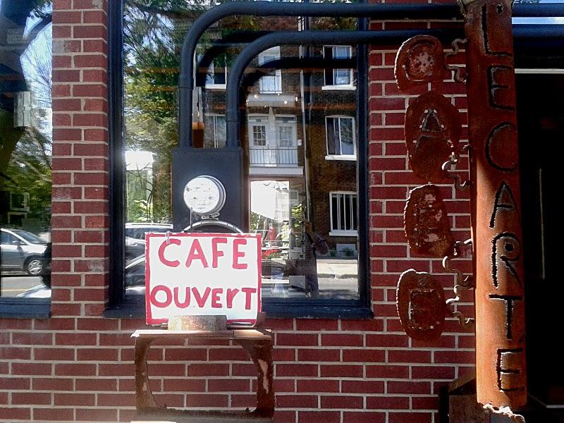 Montreal - Le Plateau - Café Le Carte