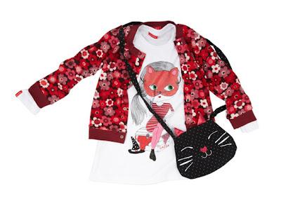 Remera estampada, calza con flores y t apado de polar para niñas ...