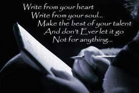 Write from your heart!