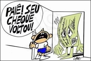 O uso de cheques no Brasil é um instrumento de fraudes.