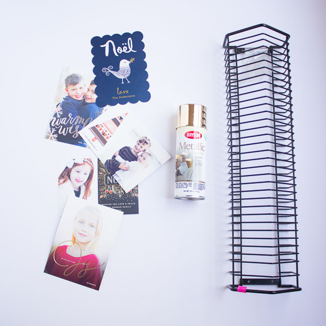 Turn An Old CD Rack Into A Modern Holiday Card Display! || Http: