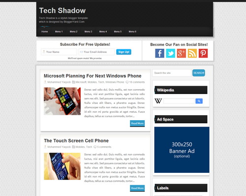 Best Free Blogger Templates Download 2016 (www.mastemplate.com)