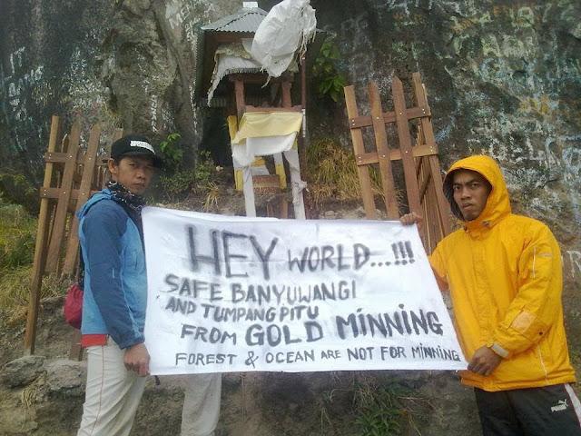 Mendaki Gunung Agung, BaFFEL Suarakan Penolakan Tambang