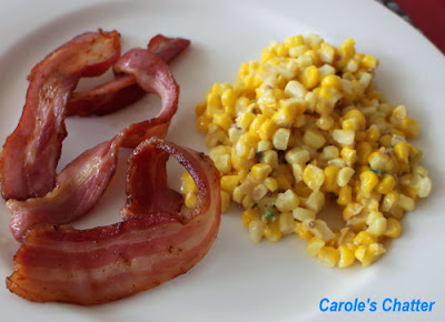 Curry Easy corn with bacon by Carole's Chatter