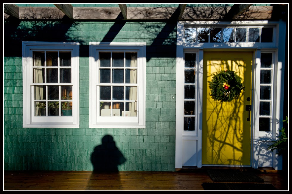 Nova Scotia; House; Shadow; Green; Windows, Door