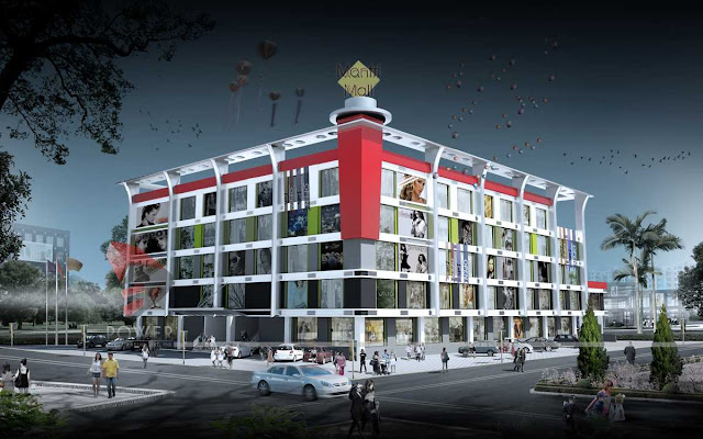 Mall And Multiplexes design, 3d architectural design