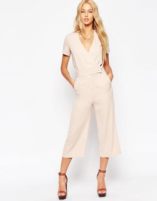 beige culotte jumpsuit,