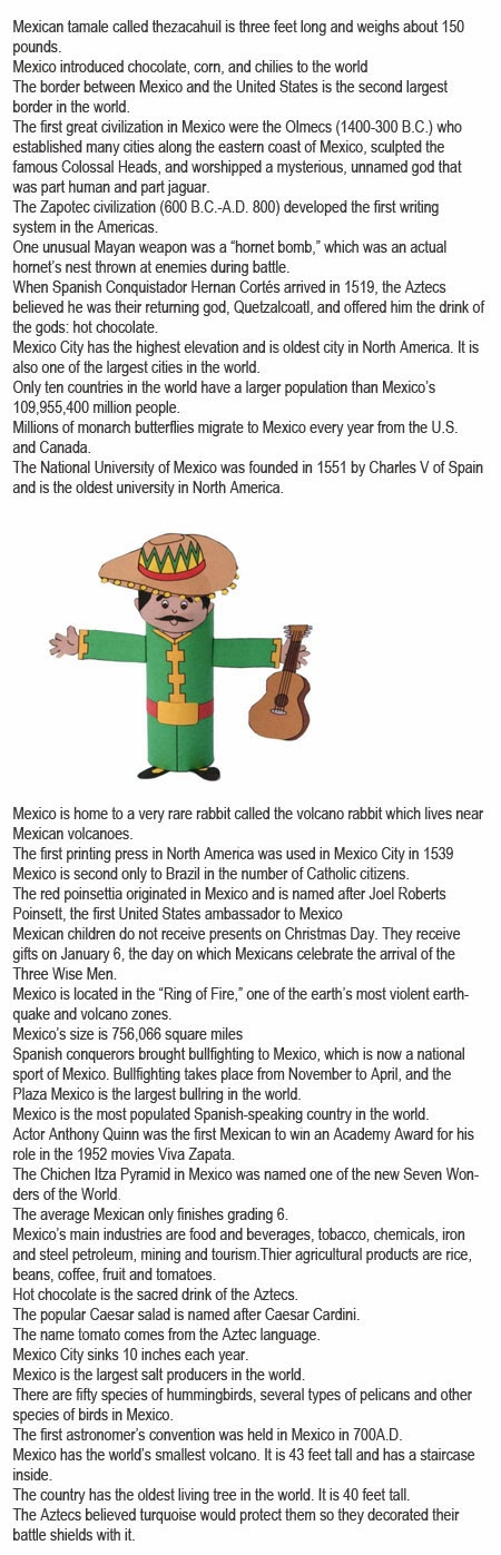 Mexico fun facts for kids