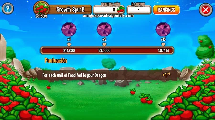 imagen del reto temporal de comida de dragon city mobile