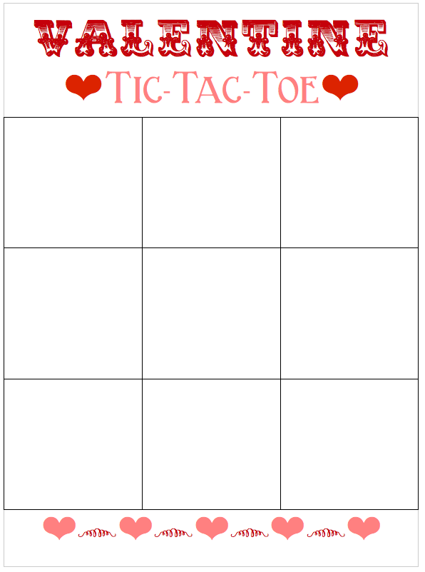 This is an image of Bewitching Free Printable Tic Tac Toe Board