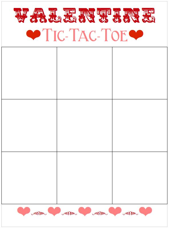 Smart image regarding valentine tic tac toe printable