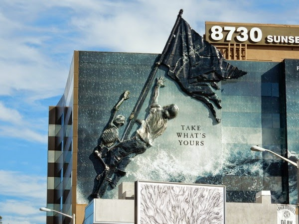 Giant 3D pirate flag Black Sails season 2 billboard