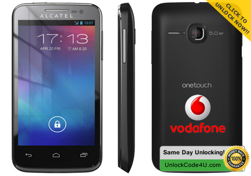 Factory Unlock Code for Alcatel One Touch M'Pop