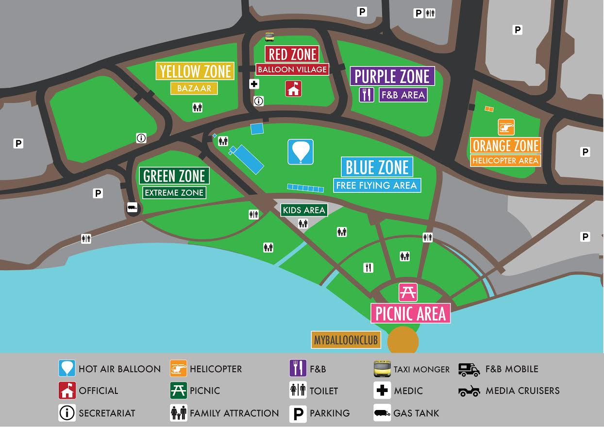 7th Putrajaya International Hot Air Balloon Fiesta 2015 Layout Plan