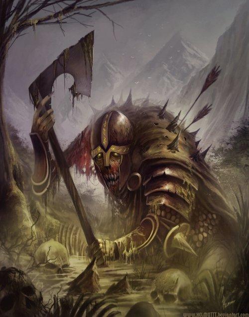 Michael Gauss helmuttt deviantart ilustrações arte conceitual fantasia capas de livros Einherjar - Guerreiros de Odin