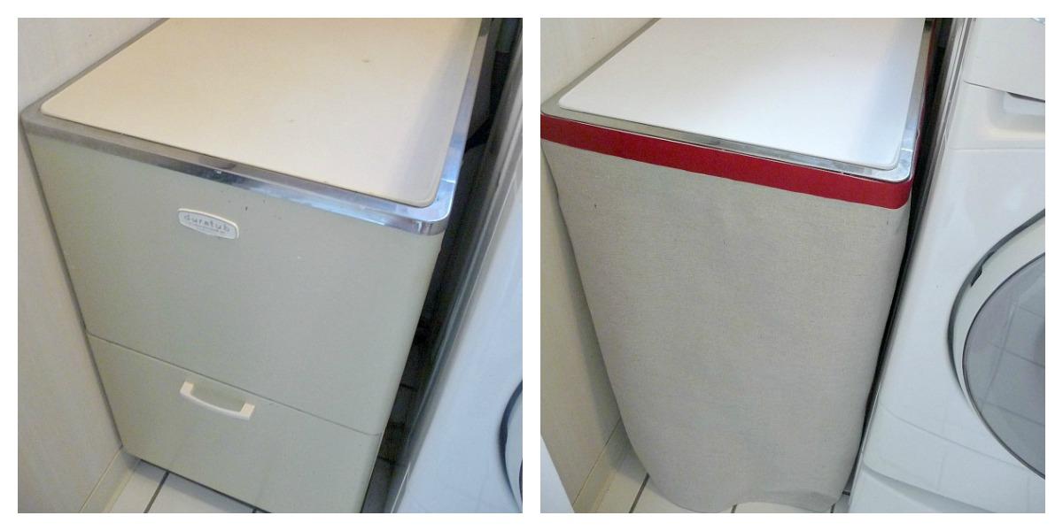 Laundry Tub Cover : My Covered Bridge: Easy Drop Cloth Laundry Tub Skirt