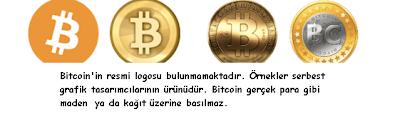 Bitcoin logosu ve madeni bitcoin neye benzer?