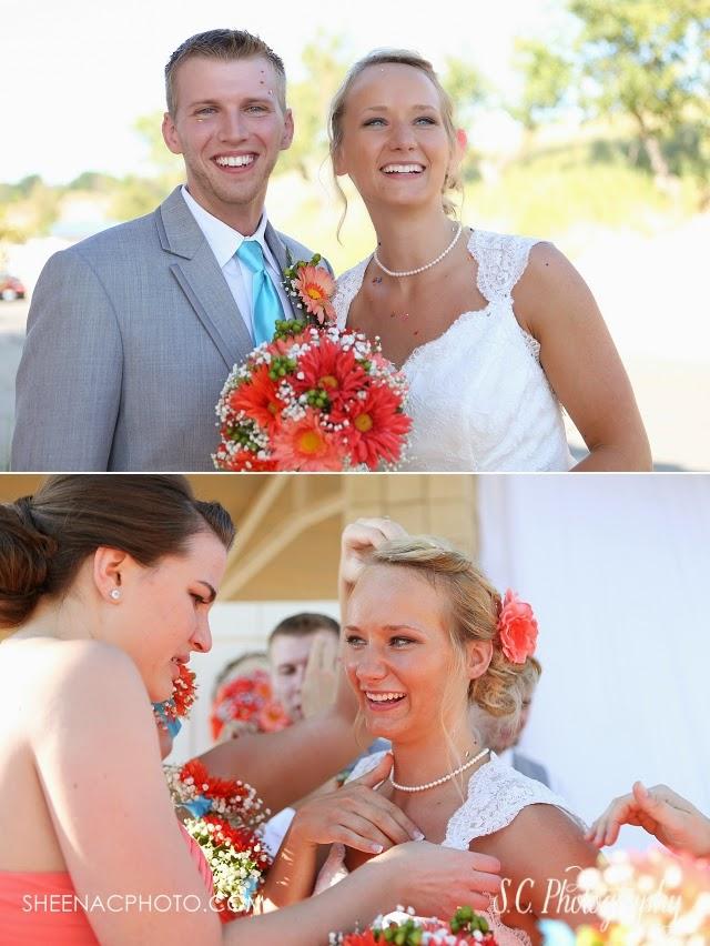 cupcake sprinkles wedding celebration guests throw sprinkles