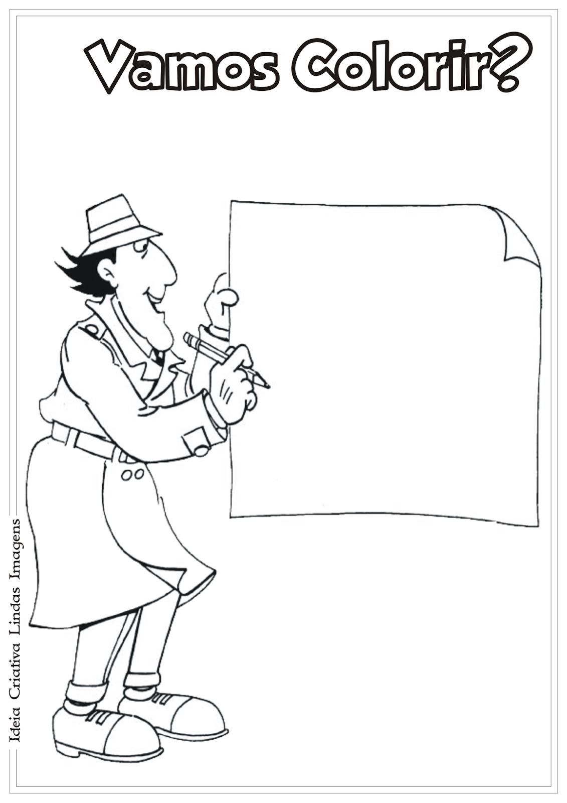 Inspetor Bugiganga desenho para colorir
