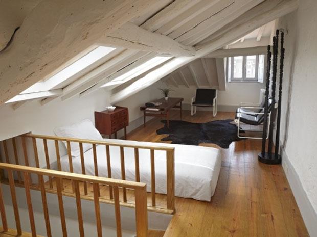 Pensao, Favorita, Hotel, Oporto, Porto,madera,dormitorio,bedroom,buhardilla