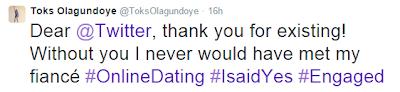 How Toks Olagundoye, A Twitter User Met His Fiance on Twitter