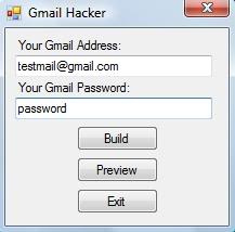 Gmail Hacking Software to hack Gmail password