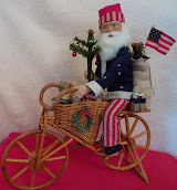 SOLD - Bicycle Santa