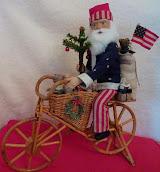 SOLD - Bicycle Santa