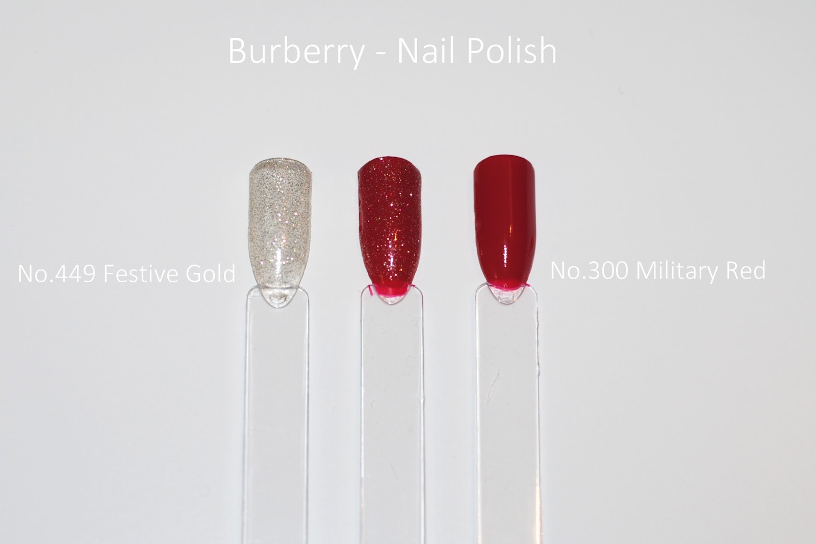 burberry festive gold holiday 2015 nail polish military red swatches