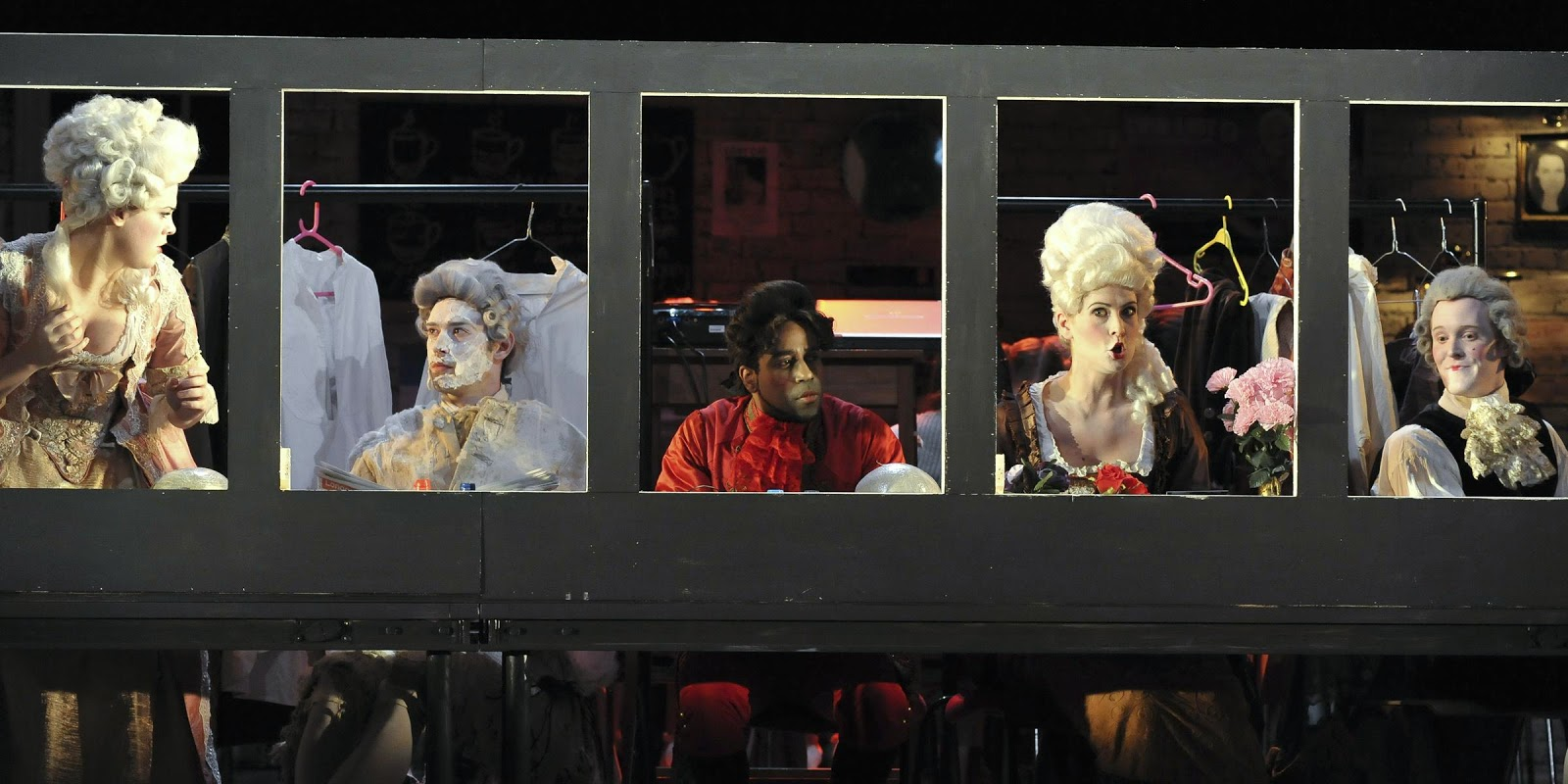 'Hogarth's bastards': Gemma Summerfield, Craig Jackson, Tai Oney, Rannveig Káradóttir, and Simon Grange. Photo credit: Fiona Clarke