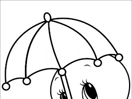 Baby Looney Tunes Tweety Coloring Pages