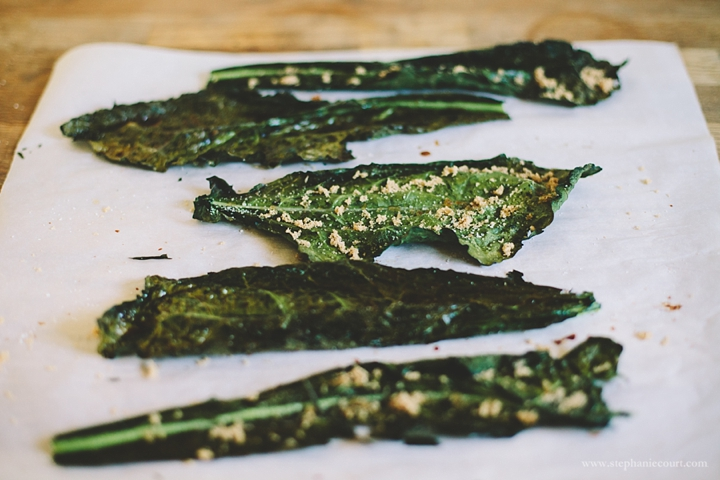 """kale chips with brown sugar"""