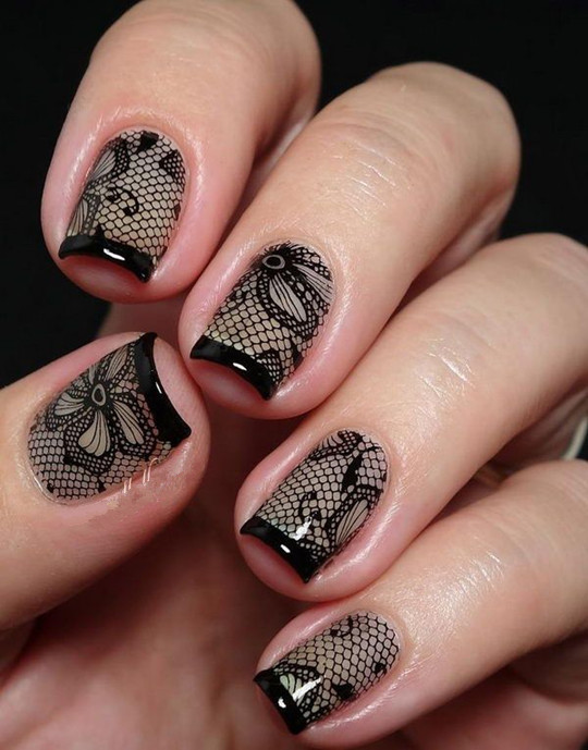 2016 Lace Nails ideas for wedding