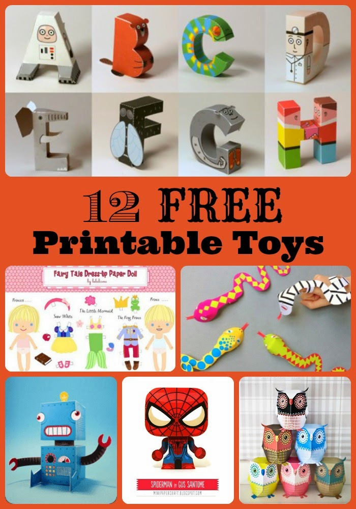 12 Free Printable Toys - click through and find them!