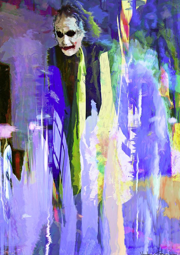 07-Joker-Heath-Ledger-Vartan-Garnikyan-Works-of-Art-Paintings-Batman-and-Joker-Themed-www-designstack-co