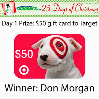Banners.com 25 Days of Christmas Giveaway - Day 1 Winner