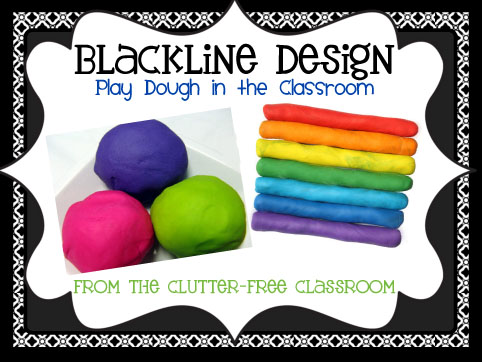 ... play dough in the classroom on the first day of school and a free