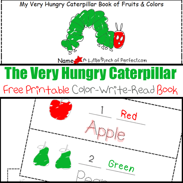 graphic about The Very Hungry Caterpillar Story Printable identified as The Extremely Hungry Caterpillar Printable Shade-Generate-Read through E book -