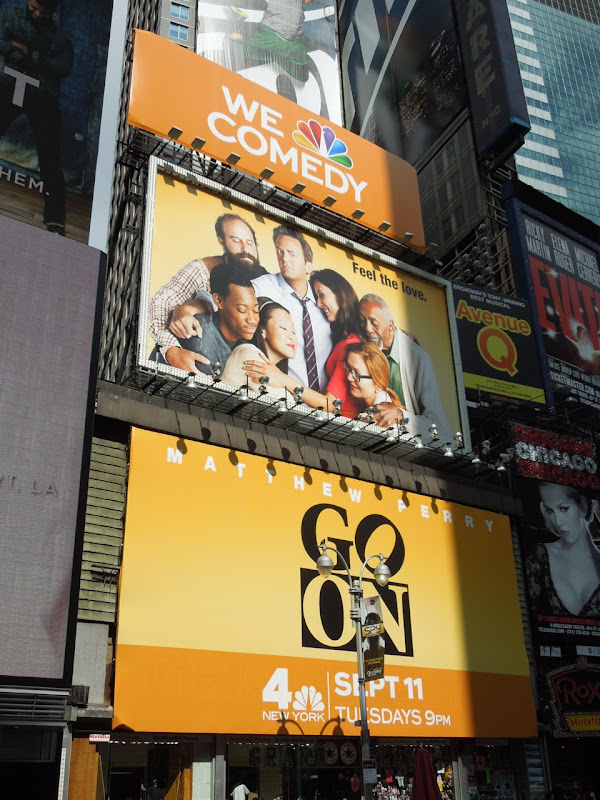 Go On billboards Times Square NYC