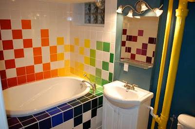 Rainbow bathroom freshome 03