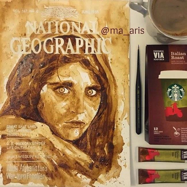 María A. Aristidou, acuarelas de café