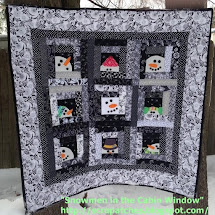 My Snowman in the Cabin Window Quilt