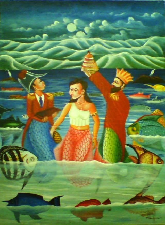 Haitianarts quadro vudù caraibi