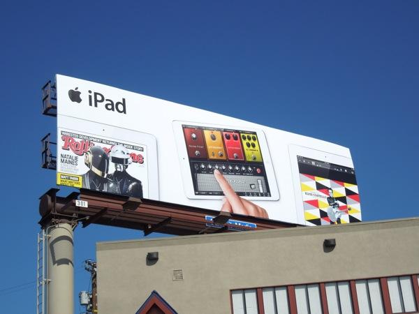iPad Rolling Stone music billboard