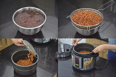Cách nấu chè đậu đỏ nước cốt dừa 1