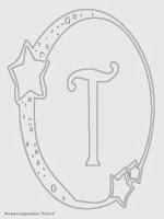 Mewarnai Gambar Huruf Alfabet T Bergaya Bulan Bintang