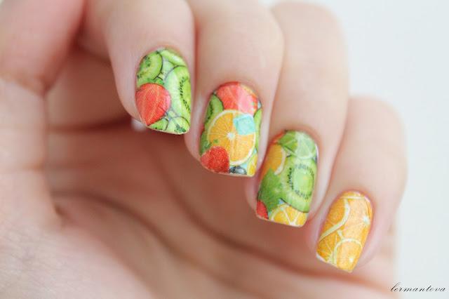Френчи на ногтях фото арбуз