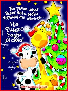 tarjeta con frase de amor para navidad
