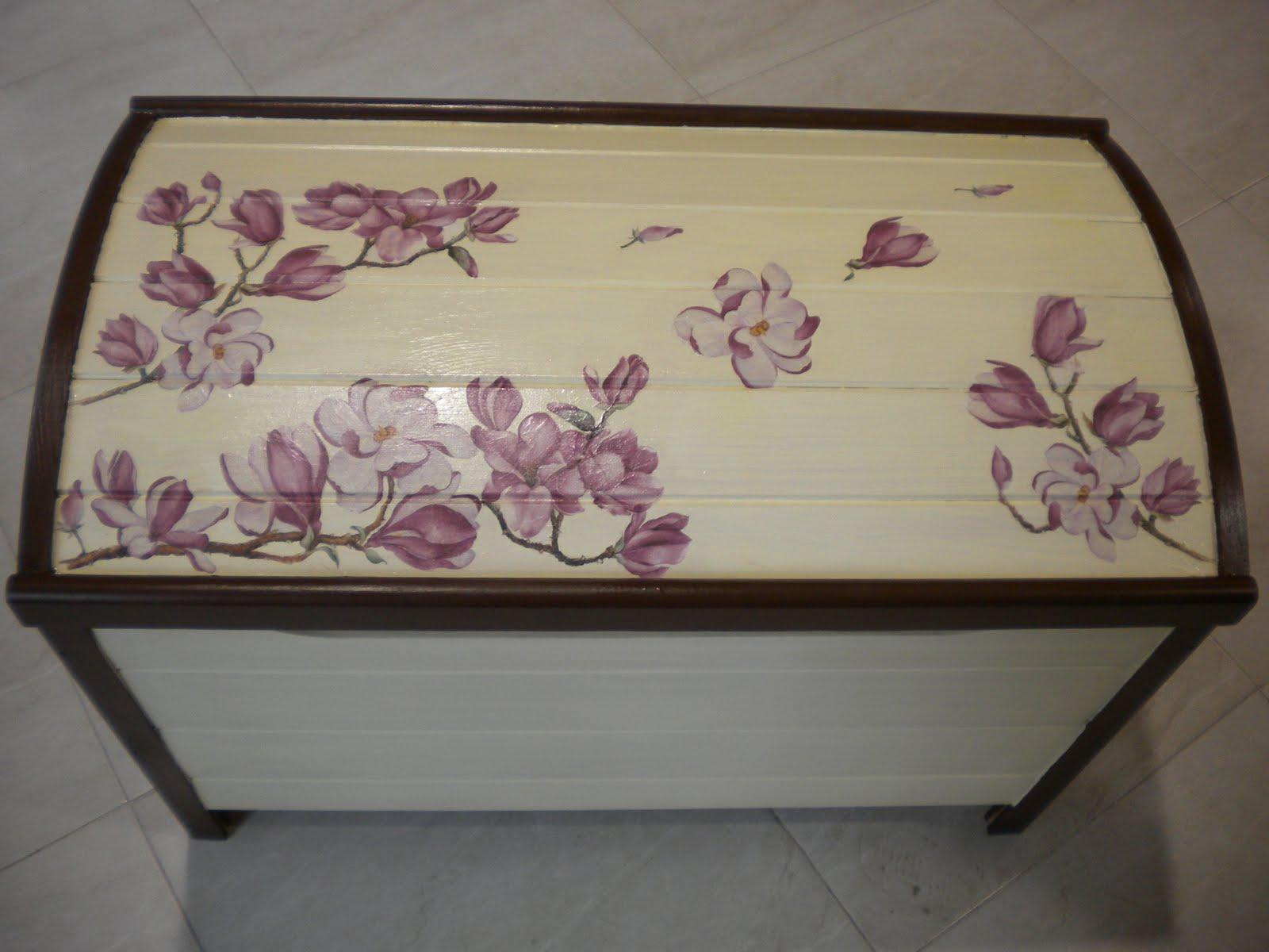 O trasno da cova el baul de las magnolias - Como decorar un baul de madera ...